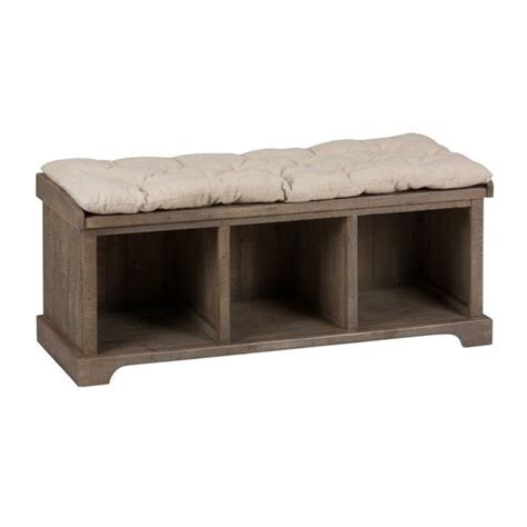 furniture benches living room jofran slater mill pine wood storage living room bench in