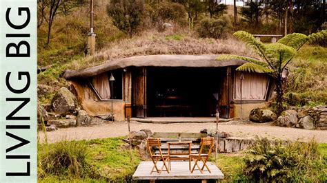 Cabin Style House Plans by Magical Hobbit Like Eco Cave House Youtube