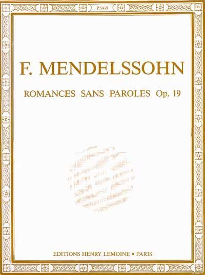 0001125354 romances sans paroles songs without sheet music romances sans paroles songs without words
