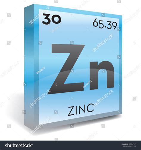 zinc element periodic table stock vector illustration