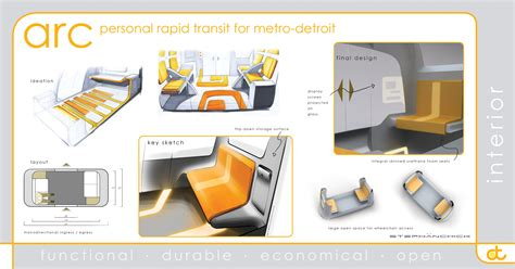furniture layout presentation arc personal rapid transit by zack stephanchick at