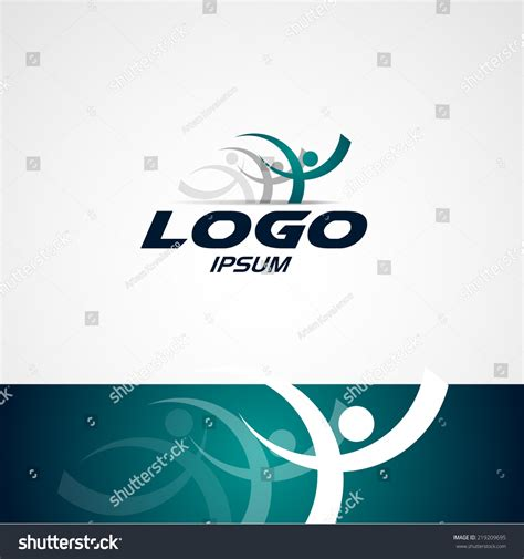 design a running logo abstract man design concept onlain academy stock vector
