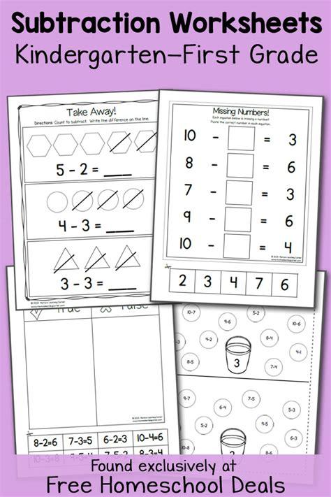 subtraction worksheets instant