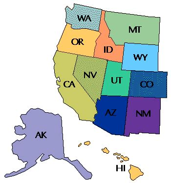 west side of the united states map american banner exchange targeted regional united states