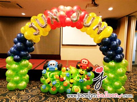balloon decoration cars theme cheapest balloon decorations for birthday