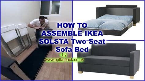 How To Open Ikea Sofa Bed Ikea Solsta Ullvi Two Seat Sofa Bed Assembly