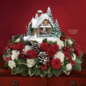 thomas kinkade s a kiss for santa by teleflora the