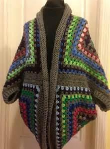 Lovely And Cozy Boho granny square cocoon sweater cardigan shrug crochet shrug