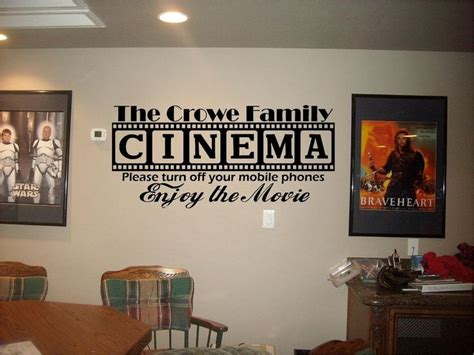 cinema theatre personalized sign home theater vinyl