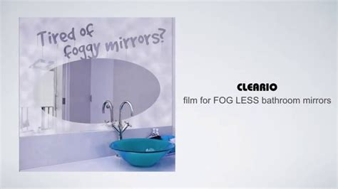 defog bathroom mirror cleario bathroom mirror defogger youtube
