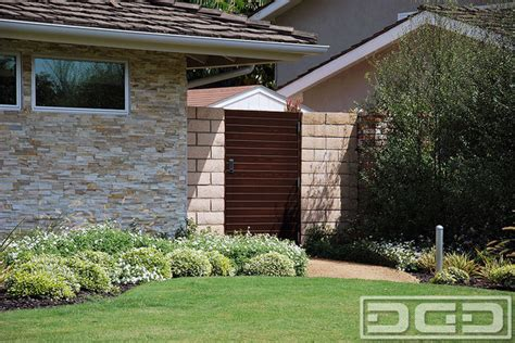 custom garden gate  mid century  contemporary