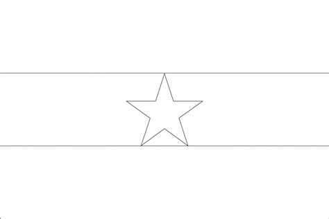 flag to colour template free coloring pages of blank flag