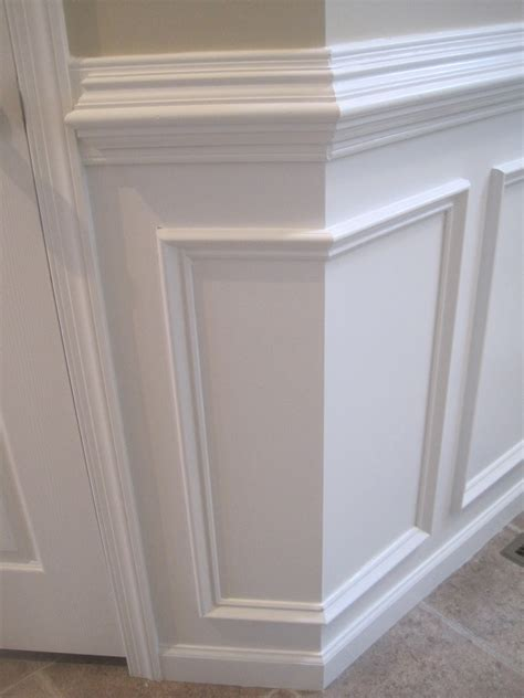 Wainscoting Molding Designed To Dwell Tips For Installing Chair Rail