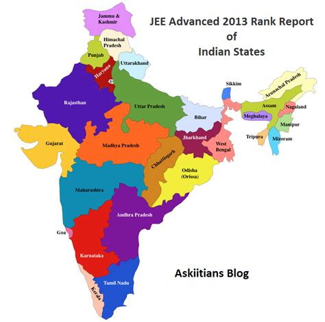indian states jee advanced 2013 rank report of indian states