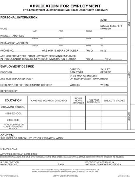 printable job applications for my business blank job application jvwithmenow com