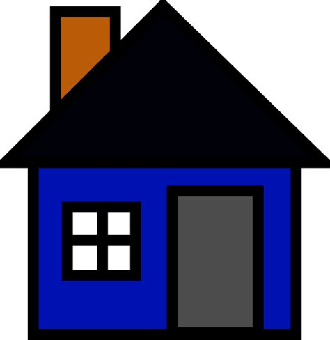 house clip art blue house clip art at clker com vector clip art online royalty free public domain