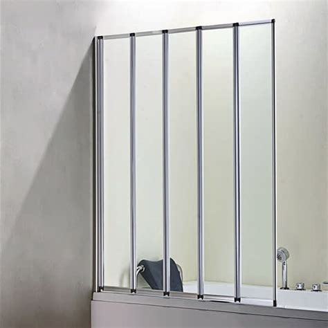 folding shower bath screen 4 folds and 5 folds bathroom chrome folding bath shower