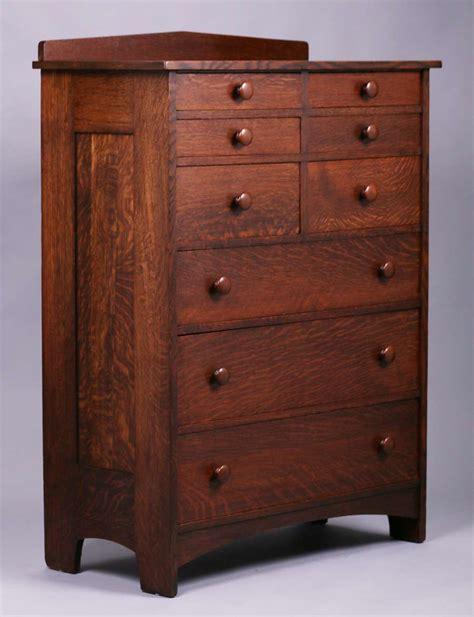 tall ljg stickley  drawer dresser california