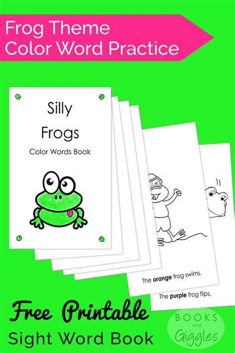 theme reading quiz frog theme word free and sight words on pinterest