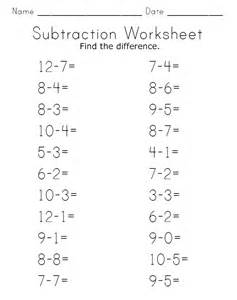 subtraction worksheets for kindergarten celestial