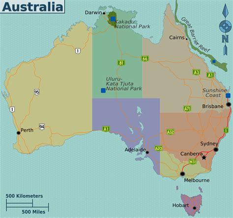 regional map of australia file australia regions map png wikitravel shared