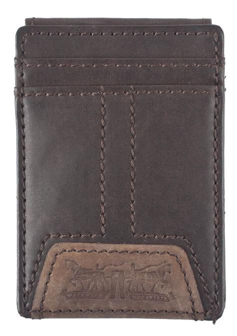 Paket Wallet mens leather magnetic money clip front pocket wallet by levis money front pocket