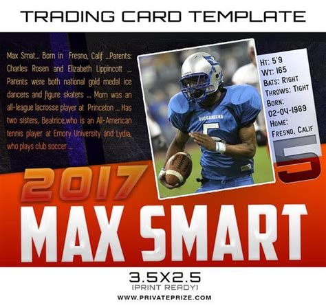 sports trading card photoshop template max sports trading card template
