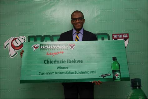 Top Mba School Scholaship by Chiedozie Ibekwe Wins The 2016 7up Harvard Business School