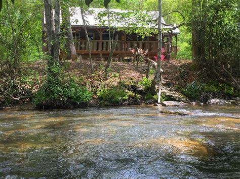 log cabin on mountain river vrbo