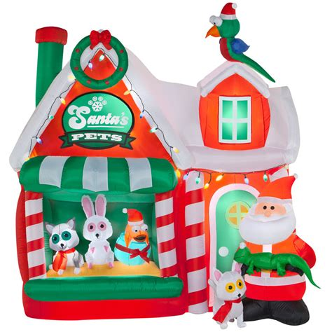 christmas santa pet shop workshop 8 ft inflatable airblown