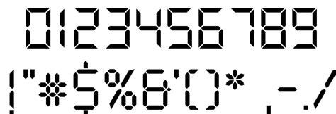 printable digital font ds digital font free fonts