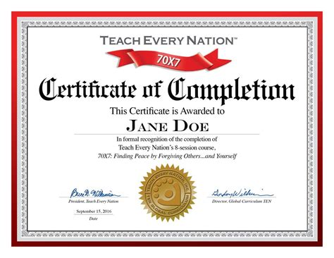 templates for course completion certificate certificate of completion template free printable