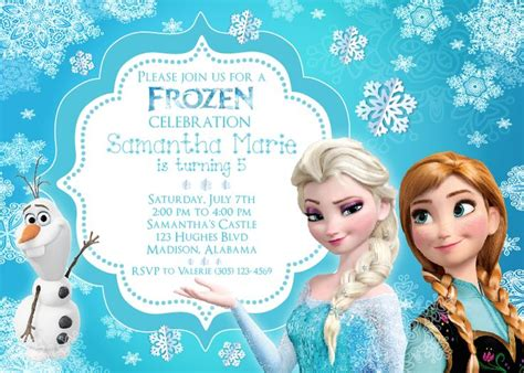 printable elsa invitations frozen invitation with elsa ana and olaf http www