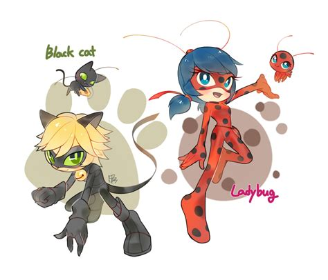 New Bal Adorable Jornald ladybug and cat noir by hanybe on deviantart