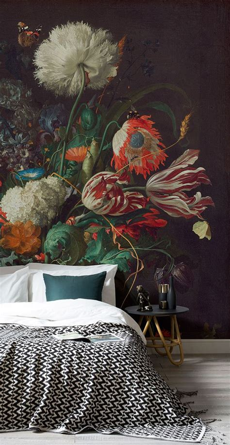 make your home bloom with these floral wallpaper ideas