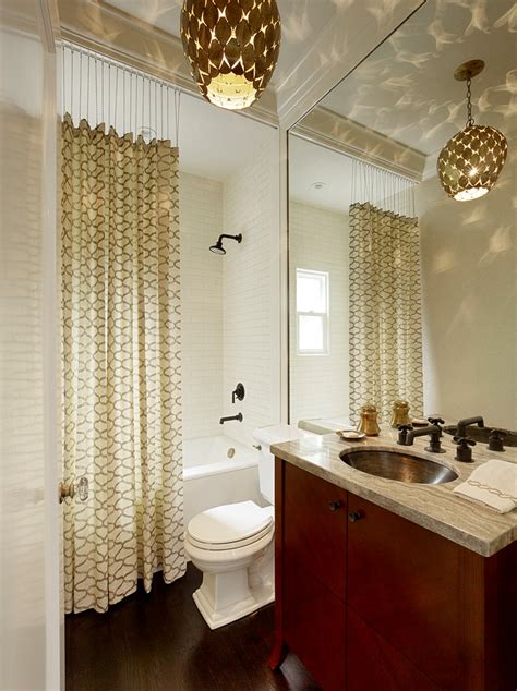 Bathroom Curtains Ideas Extraordinary Fabric Shower Stall Curtains Decorating Ideas Images In Bathroom Transitional