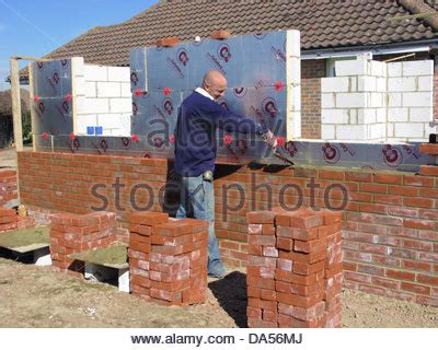 brick wall with celotex thermal insulation board in cavity