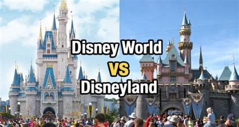 top 5 differences between disney world and disneyland