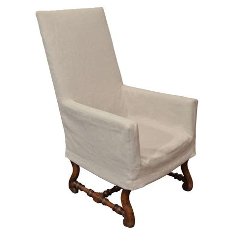 high back chair slipcovers high back arm chair with slipcover at 1stdibs
