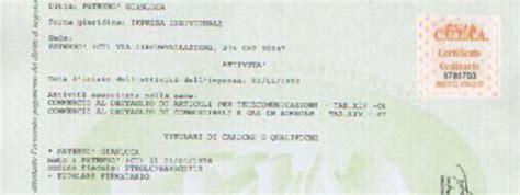 certificati di commercio certificati di iscrizione al registro imprese rea