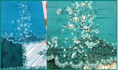 Baju Warna Hijau Petronas inspirasi chantik kain pasang sulam dan manik bandung