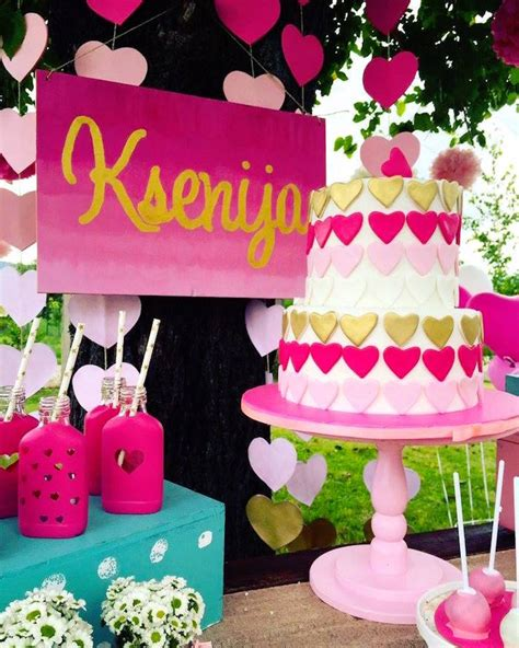 love pink themes kara s party ideas love pink ombre gold birthday party