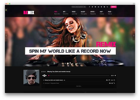 dj themes songs 24 of the best wordpress themes for musicians 2018 colorlib