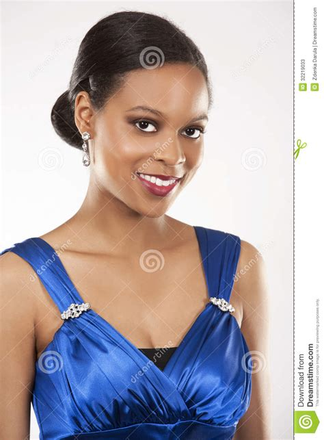 name of black women in blue dress in viagra commercial black woman in evening gown stock image image 32219033