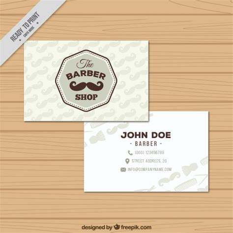 visit card template ai baber shop visit card template vector free