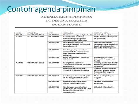 membuat jadwal kegiatan pimpinan manajemen waktu dalam aktivitas sekretaris dan pengelolaan