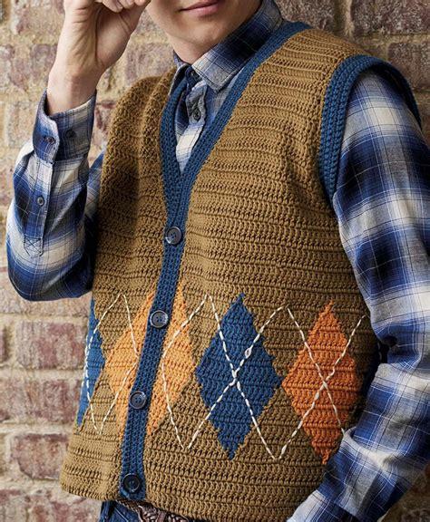 pattern crochet waistcoat men s waistcoat crochet pattern