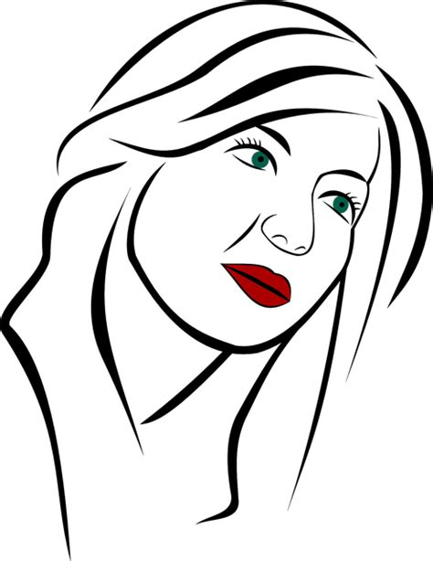 vector graphic portrait woman girl face person