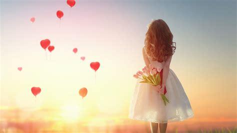 day 5 tiny for a woman who loves macro photography wallpaper heart shape balloons love hearts girl tulips