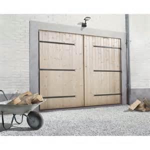 porte de garage 2 vantaux primo h 200 x l 240 cm leroy